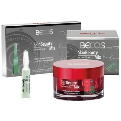 Skin Beauty Mix Active Clock- Ampolle (7) & Crema Viso Rigenerante