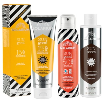 Solarium Super Tanning Milk + Spray Spf50 + Cream Spf15 Face-body